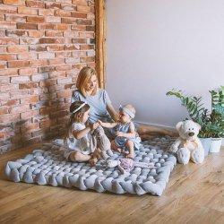 Lulando Art Collection Mata pleciona 140x140 cm velvet szary