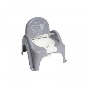 Nocnik-krzesełko sowa szary