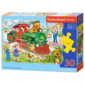 Puzzle 30 el. green locomotive