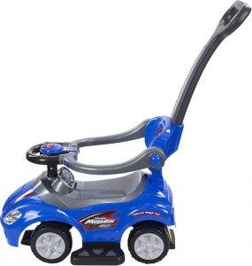 Jeździk Mega car z popychaczem - niebieski