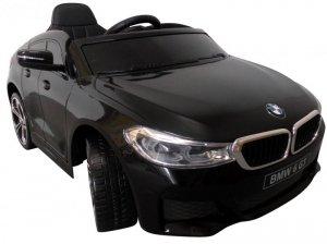BMW 6GT czarny Miękkie koła Eva, miękki fotelik Licencja