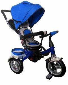 Rowerek Trójkołowy T3 niebieski R-Sport  Koła pompowane