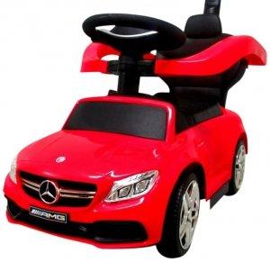 Pchacz Mercedes AMG c63 CZERWONY  Jeździk, muzyka