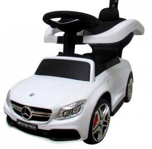 Pchacz Mercedes AMG c63 BIAŁY Jeździk, muzyka