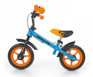 Rowerek biegowy Dragon z hamulcem blue-orange