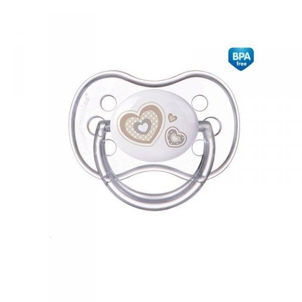 Smoczek silikonowy okrągły 6-18m newborn