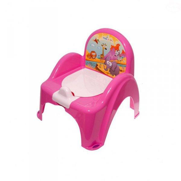 Nocnik-krzesełko safari z pozytywką różowy