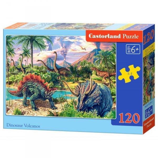 Puzzle 120el. dinosaur volc.