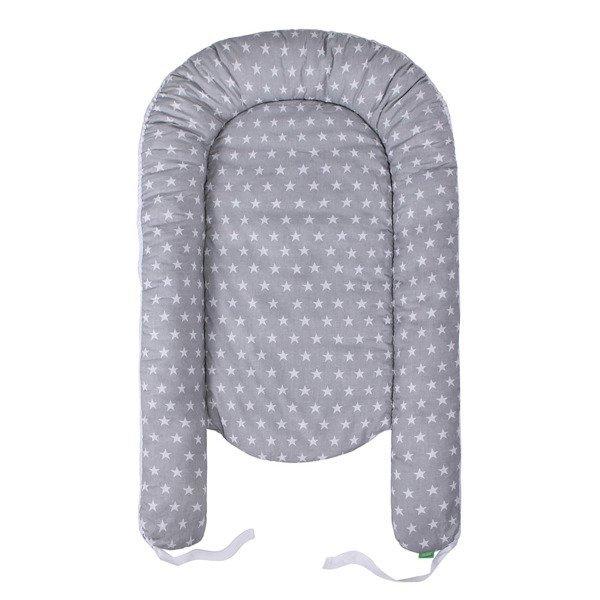Lulando Kokon dla dziecka szary w białe gwiazdki+szary