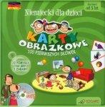 Niemiecki dla dzieci Karty obrazkowe 100 pierwszych słówek Karty obrazkowe Poradnik (+ CD)
