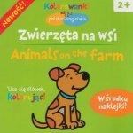 Zwierzęta na wsi Animals on the farm Kolorowanki polsko-angielskie