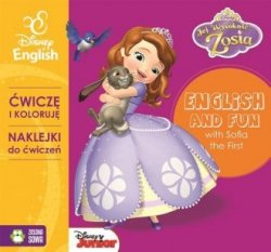 Zosia Ćwiczę i koloruję z naklejkami English and fun with Sofia the First