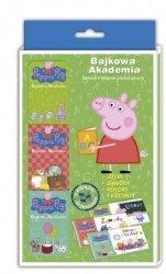 Peppa Pig Bajkowa Akademia Tom 1 Litery, zawody, kolory i kształty