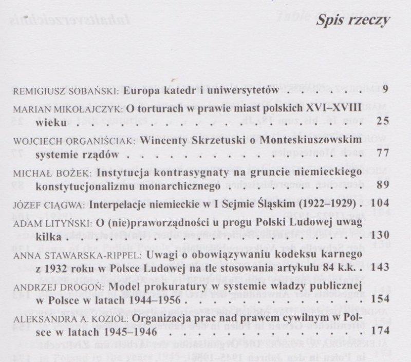 Z dziejów prawa cz 7 pod red Adama Lityńskiego i in