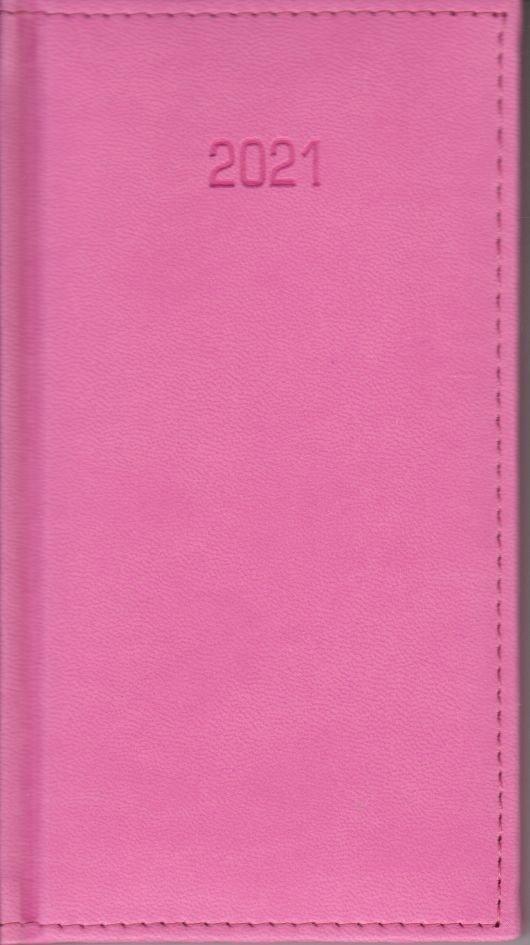 Kalendarz A6 2021 (różowy)