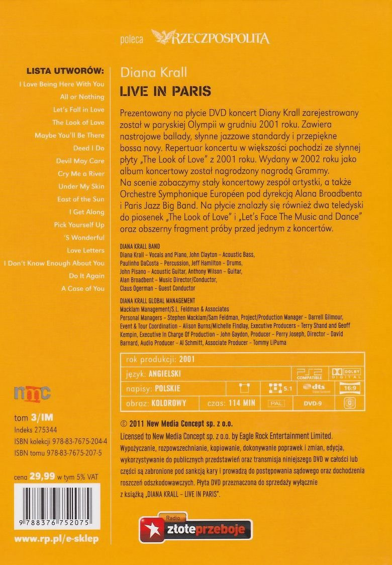 Diana Krall Live in Paris książka + koncert