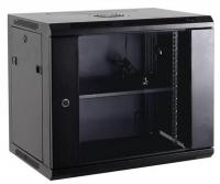 Netrack szafa wisząca 19'', 15U/600x600mm – szary, drzwi szklane, otwierane boki