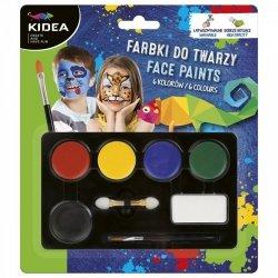Farbki do Malowania Twarzy 3,4 G X 6 Kolorów Kidea