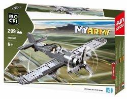 Klocki Blocki Myarmy Wojsko Samolot Myśliwski 299 el.