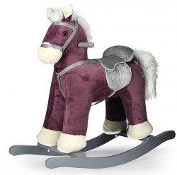 Konik Koń na biegunach Pepe Purple Purpurowy Bujak #B1