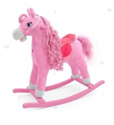 Koń na biegunach Princess Różowy #B1
