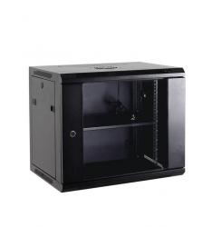Netrack szafa wisząca 19'', 15U/600x450mm –czarny, drzwi szklane, otwierane boki