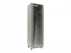 NETRACK 019-420-68-011-Z Netrack szafa serwerowa RACK 19 42U/600x800mm, ZŁOŻONA, drzwi szklane, szara