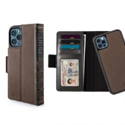 Twelve South BookBook - etui skórzane z klapką do iPhone 12/12 Pro kompatybilne z MagSafe (brązowe)