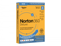 SYMANTEC 21394899 NORTON 360 DELUXE 25GB PL 1 USER 3 DEVICE 12MO STD RET ENR MM