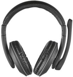 Słuchawki z mikrofonem TRUST Czarny 21662