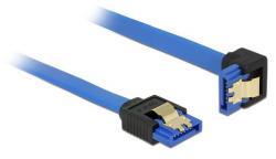 Kabel DELOCK SATA III 6 Gb/s 30 cm kątowy prosto/dół Niebieski 85090