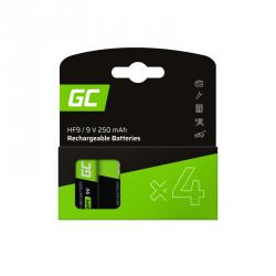 Baterie GREEN CELL NiMH HF9 250mAh 4 szt. GR19