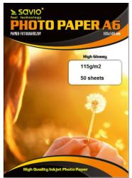 Papier SAVIO Photo 115g A6 Błyszczący PA-02