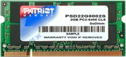 Pamięć PATRIOT SODIMM DDR2 2GB 800MHz 6CL 1.8V SINGLE