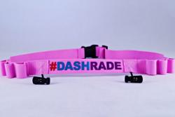 Pasek na numer startowy #DashRade różowy