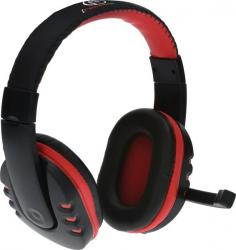 Słuchawki z mikrofonem AULA GAMING Czarno-czerwony RBLSLU00032