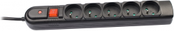 Listwa zasilająca TRACER PowerGuard + 3 m Czarny (5 gniazd) TRALIS30407