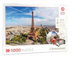 Puzzle Okulary Vr Wieża Eiffla 1000 elementów Clementoni