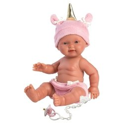 Hiszpańska lalka bobas dziewczynka Jednorożec -  26cm #T1
