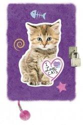 Pamiętnik włochacz Fiolet na Kłódkę My Little Friend Kot