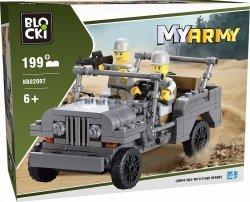 Klocki Blocki Myarmy Wojsko Gazik Jeep 199 el.