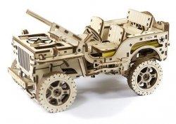 Drewniane Puzzle Mechaniczne 3d Wooden.City - Auto 4x4 #T1