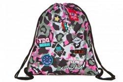 Worek na Buty Wodoodporny Sprint Camo Pink Badges CP Kieszeń