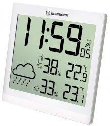 Stacja meteorologiczna Bresser TemeoTrend JC LCD RC (zegar ścienny), biała
