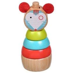 Drewniana układanka dla dziecka - Myszka #T1