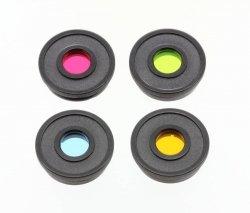 Podstawowy zestaw filtrów kolorowych Bresser 1,25 (czerwony, zielony, niebieski, żółty)