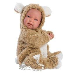 Hiszpańska lalka bobas chłopiec Bebo Misio – płacze 44cm #T1