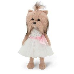 Przytulanka piesek Lucky Yoyo w białej sukience – 38cm #T1