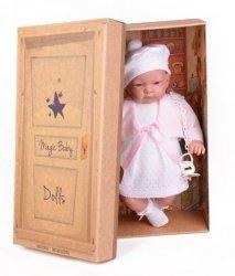 Hiszpańska lalka bobas dziewczynka Jenny w sukience 45cm #T1