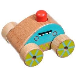 Drewniany samochodzik z dźwiękiem #T1
